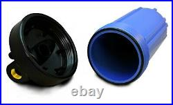 10 Inch Jumbo Water Filter Housing Triple Unit High Flow Whole House Big Blue