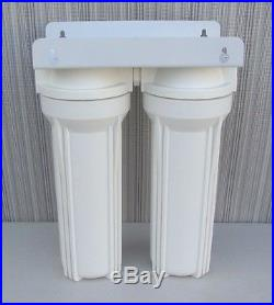 10 Whole House 2 stage filtration water system remove chlorine, chemicals 1/2