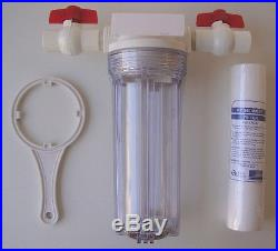 10 Whole House clear stage filtration water system 1/2 ports with PP Sediment