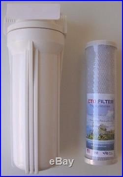10 Whole House white stage filtration water system 3/4 thread + Carbon Filter