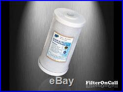 10 x 4.5 BIG BLUE CARBON BLOCK WATER FILTER Whole House RO