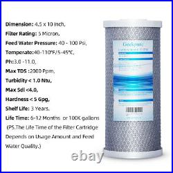 12 PK Big Blue Carbon Block Replacement Water Filter For Whole House 4.5 x 10