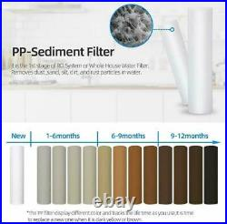 12 Pack 1 Micron 20x4.5 Sediment Water Filter Whole House RO Cartridge Filters