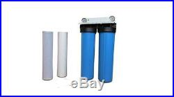 20 Big Blue Whole House Water Filter System (Dual Stage) withSED & CCB Filters