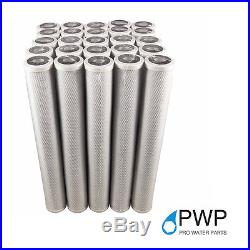 20 Pack 2.5 x 20 In Carbon Block Water Filter Whole House RO CTO 1 Micron