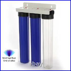 20 x 2.5 3 Stage Whole House Water Filter System High Quality 3/4