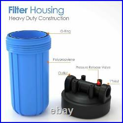 20x4.5/10 x 4.5/10 x 2.5 Big Blue Whole House Water Filter System FREE ONE