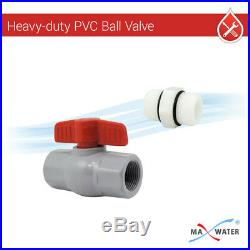 20x4.5 BB Clear Dual 1 Whole House Water Sediment Carbon Filter+Pressure Gauge