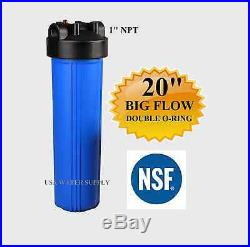 20x4.5 Big Blue Water Filter Housing 1 NSF Whole House RO