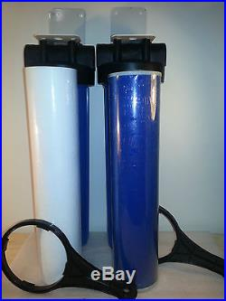 20x4.5 Big Blue Whole House Water Filter System For Home & Well Water supply