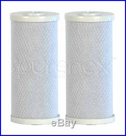 (2) BIG BLUE 10 x 4.5 Purenex CARBON BLOCK WATER FILTER FOR WHOLE HOUSE SYSTEM