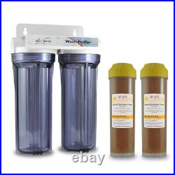 2 Stage Standard 10 Car Wash Spotless Water System with DI Refillable Cartridges