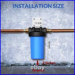 2 Stage Whole House Water Filter System with10 Inch Big Blue Housing-1 Inch In&Out