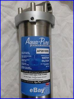 3M Aqua Pure AP2610SS stainless steel whole house water filter with two AP110