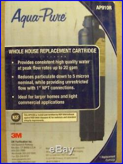 3M Aqua-Pure AP910R Whole House Water Filter Replacement Cartridge For AP902 NEW