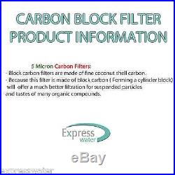3PK- 10 x 2.5 Coconut Shell CTO Carbon Block Water Filter for Whole house & RO