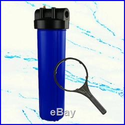 3Pack Whole House Water Filter System 1 Port With Bracket, 20-Inch Big Blue Size