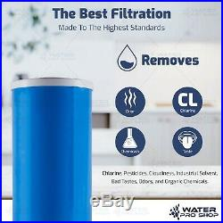 3 Clear Big Blue 10-Inch Water Filter Whole Housing 1-Inch Outlet/Inlet