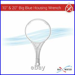 3 Pack 20-Inch Big Blue Whole House Water Filter Clear Housing, Brass, Gauge Hole