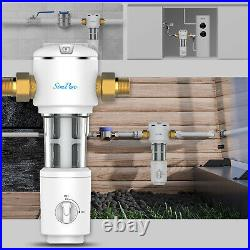 3 Pack Sediment Water Filter Whole House Spin Down Filtration System 40 Micron
