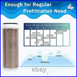 3 Set 10x4.5in Big Blue Filter Housing+ Reusable Spin Down Sediment Water Filter