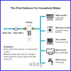 3 Set Whole House Sediment Water Filter Spin Down Filtration System 40 Micron