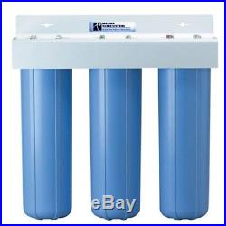 3 Stage 20 Whole House Big Blue Water Filter System Including Filters