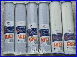 3-Stage 20 x 4.5 Whole House Water Filter System (1Port)+ Bracket & wrench