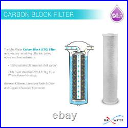 3 Stage 20x4.5 Big Blue 1Whole House Water Filter for Calcium chlorine Odor D