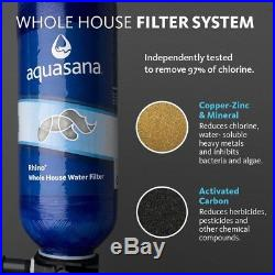 3-Stage 300,000 Gal. Whole House Water Filtration System supplies clean water