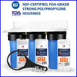 3-Stage Big Blue 10 Whole House System 1+Carbon, Sediment, String Wound Filters