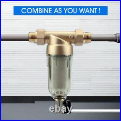 3-Stage Big Blue 20 Whole House Filtration System+Stand+GAC+PP+Sediment DC3