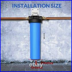 3 Stage Big Blue 20 Whole House System +GAC+Sediment +Spindown Water Pre Filter