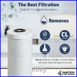 3 Stage Big Blue Whole House Water Home Filtration System 1 Inlets + Filters
