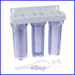 3-Stage Clear 1 inch Whole House UDF CTO System Carbon Sediment Filters