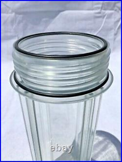 3 Stage Clear Whole House Water Filter System with Leak Proof Double O-Ring 3/4
