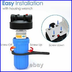 3 Stage Commercial Grade Under Sink Water Filter System 10 x 4.5 Cartridges