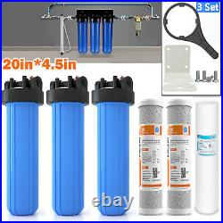 3-Stage Whole House 20 Sediment Water Filter System Spin Down Water Pre Filter