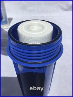 3 Stage Whole House Water Filter System with Leak Proof Double O-Ring 1 Port