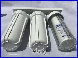 3 Stage Whole House Water Filter System with Leak Proof Double O-Ring 3/4 Port