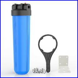 3-Stage Whole House Water Filtration System with 20-Inch Big Blue Sediment, Carbon