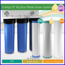 3-stage 20x 4.5 WH BB Tannin Removal Water Filtration System ¾ ports