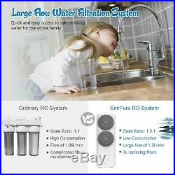 400 Gpd Reverse Osmosis Water Filtration System Fast Flow Tankless Whole House