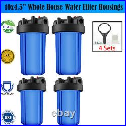 4Pack 10 Big Blue Water Filter Housings fit for 4.5 Cartridges, for RO System