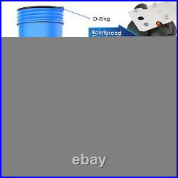 4Pack 20 x 4.5 Big Blue Whole House Filter Housing Plus 2P Wound Filter Element