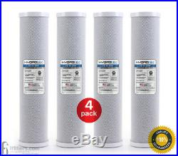 4Pk Whole House CTO Coconut Carbon Block Water Filter 5 micron Big Blue Size 20