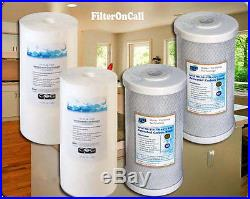 4 10 x 4.5 Sediment & Carbon Block for Big Blue Whole-House Filter System