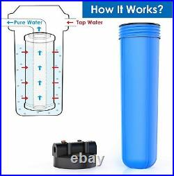 4.5X20 Big Blue Whole House Filter Housings Backwash Spin Down Water Filters