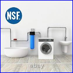 4 Pack Big Blue Whole House Water Filter Housing Sets 4.5 x 20 with 1 Port