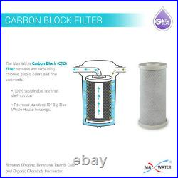 4 Packs Big Blue Carbon Block Replacement Water Filter 4.5 x 10 Whole House